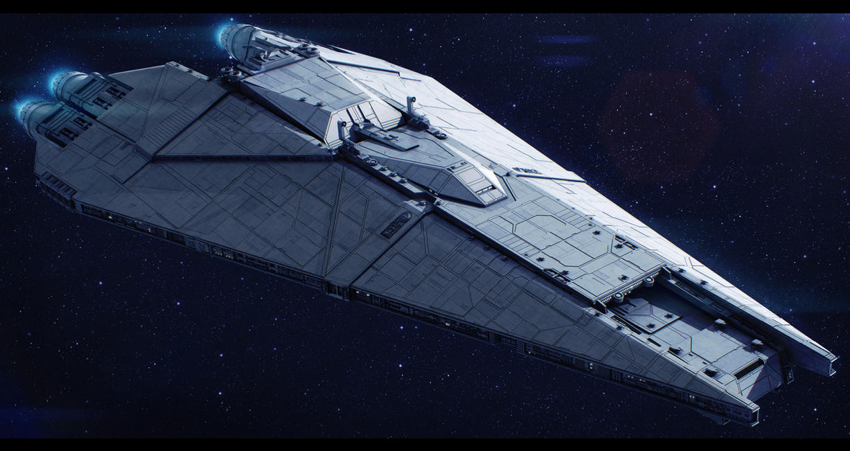 Star Wars CEC Freedom-class Star Defender by AdamKop