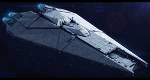 Star Wars CEC Freedom-class Star Defender by AdamKop