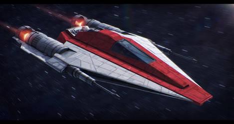 Star Wars Kuat Systems Eta-4 Interceptor by AdamKop