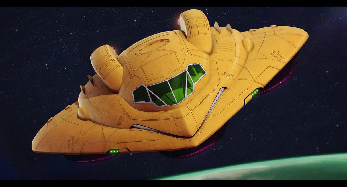 Metroid - Samus Aran's Gunship 3D