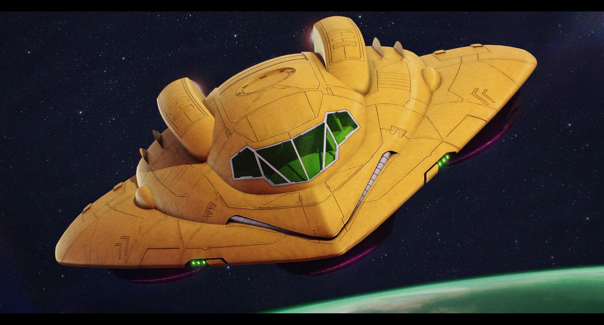 Metroid - Samus Aran's Gunship 3D by AdamKop