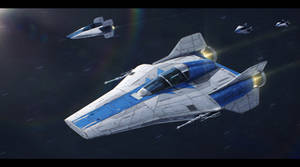 Star Wars Azure Squadron commission by AdamKop