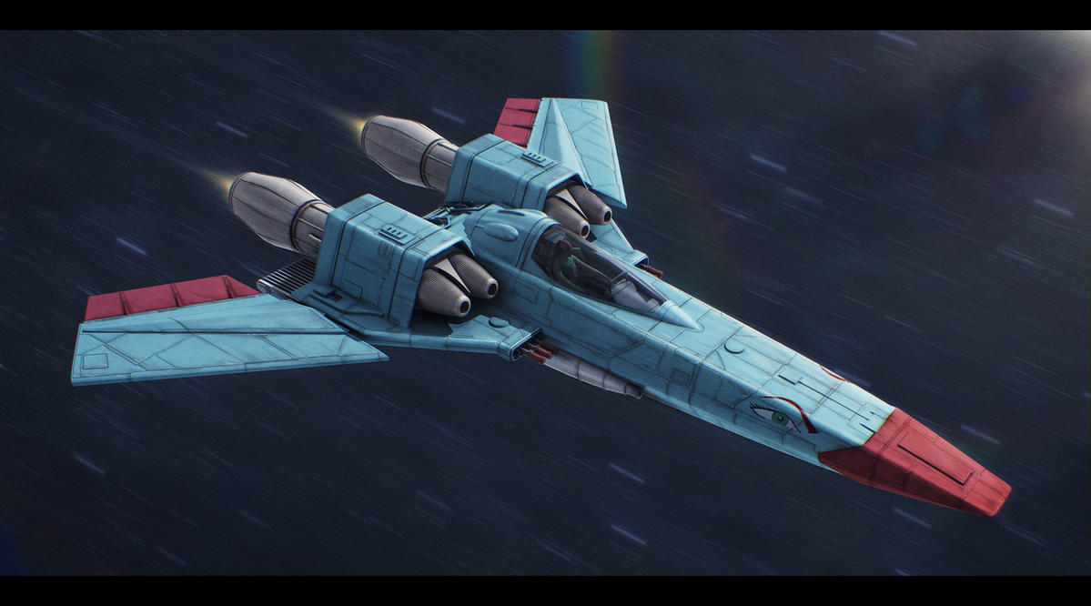 Star Wars Incom/Subpro Z-95 mkIII Mara Jade custom by AdamKop
