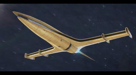 Star Wars Nubia Star Drives T-type yacht by AdamKop