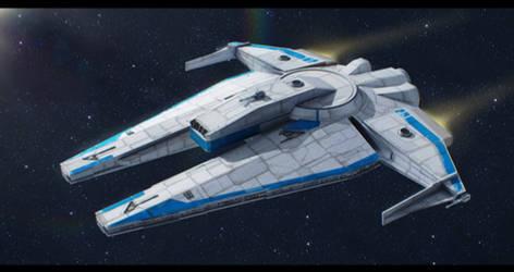 Star Wars YT custom freighter by AdamKop