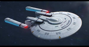 Star Trek New Orleans Class 3D redesign by AdamKop
