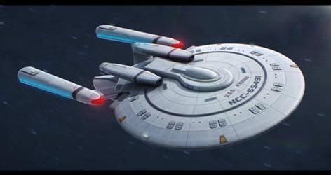 Star Trek New Orleans Class 3D redesign by AdamKop
