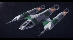 Star Wars Koensayr BTL-M1 M-class scout ship