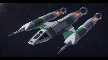 Star Wars Koensayr BTL-M1 M-class scout ship by AdamKop