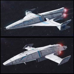 TextSpaced 3D Ship renders - Shuttle variants by AdamKop