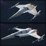 Textspaced 3D Ship renders - Fighter variants