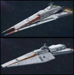 Textspaced 3D Ship renders - Gunboat variants