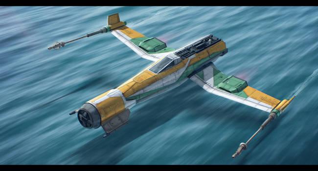 Star Wars Resistance - Kazuda's ship 'Fireball' by AdamKop