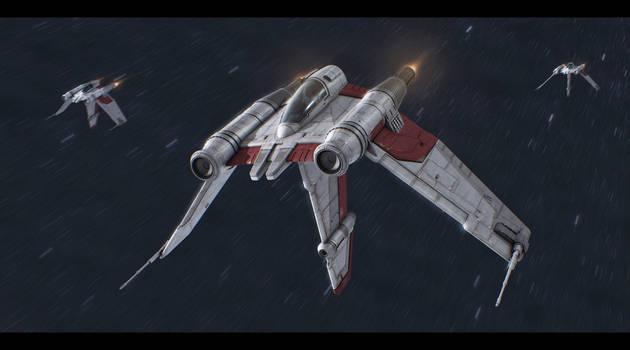 Star Wars Clone Wars V-19 Torrent Fighter by AdamKop