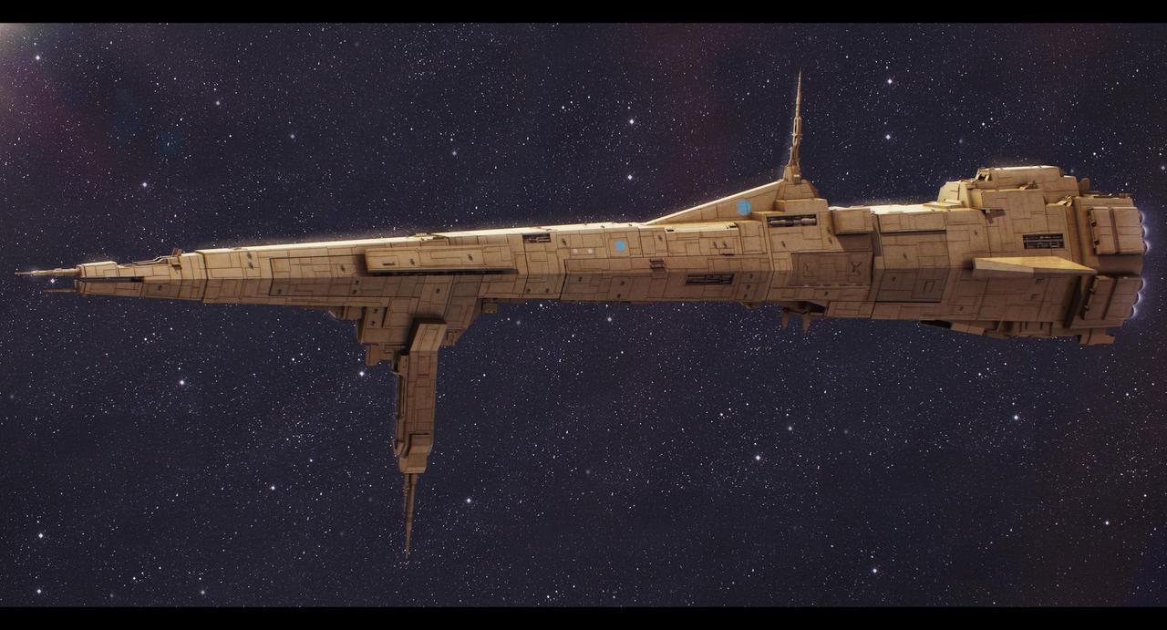 Star Wars Republic Command Ship Reliance by AdamKop