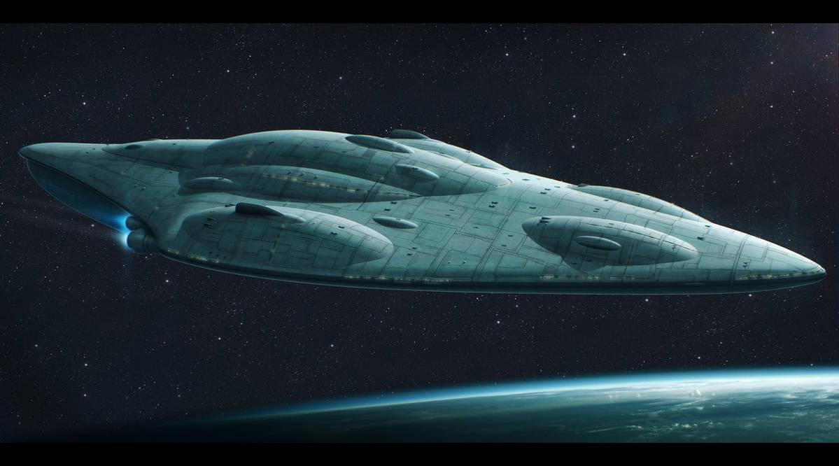 Star Wars Mon Calamari Shipyards MC80B by AdamKop