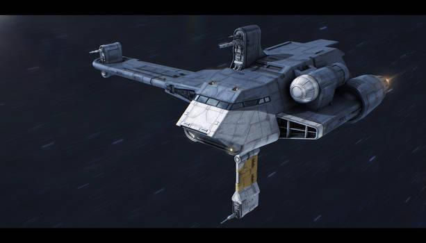 Star Wars Clone Wars: Twilight - G9 Rigger-class by AdamKop