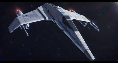 Star Wars FreiTek T-68A E-Wing by AdamKop
