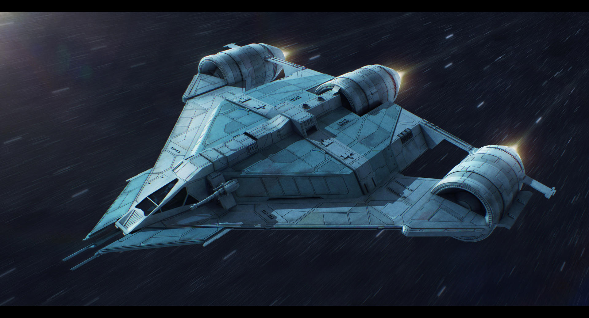 Star Wars Koros Spaceworks LH802 light hauler by AdamKop