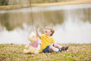 Christopher Robin and Pooh by VioletBreezeStock