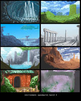 Environment Speed paint Batch 4 by StudioLG