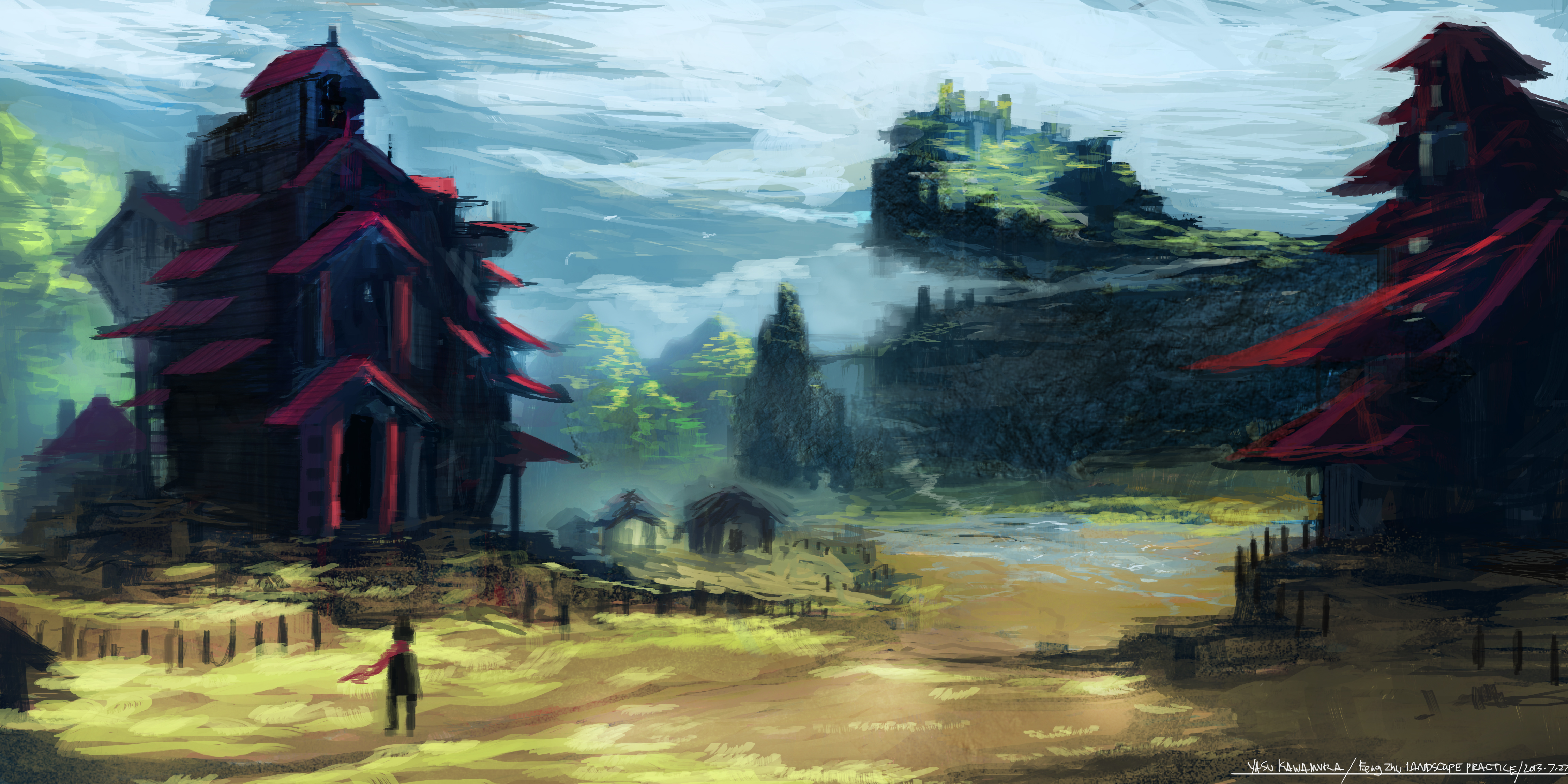 Feng Zhu Style Environment Practice By Studiolg On Deviantart