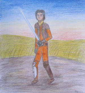 Ezra - lightsaber training