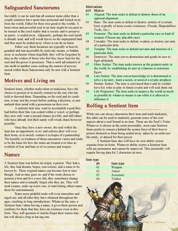 I've created a Homebrew Race, Looking for criticism
