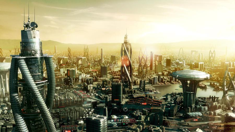 futuristic landscape by esandoval