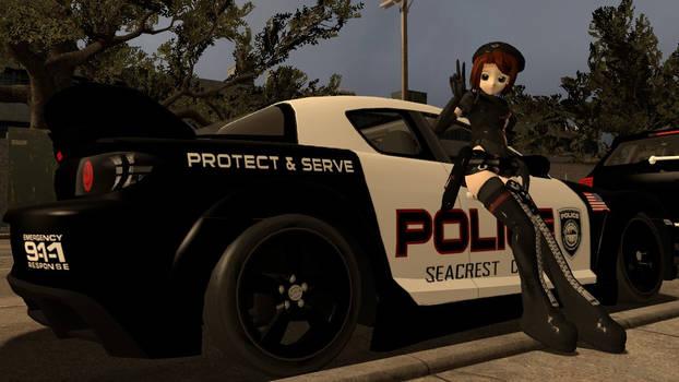 Police Girl Pose