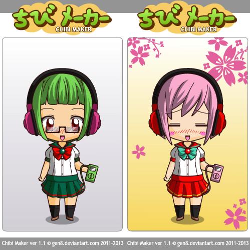 Cute Schoolgirls by ChibiMaker by xSakuyaChan510x
