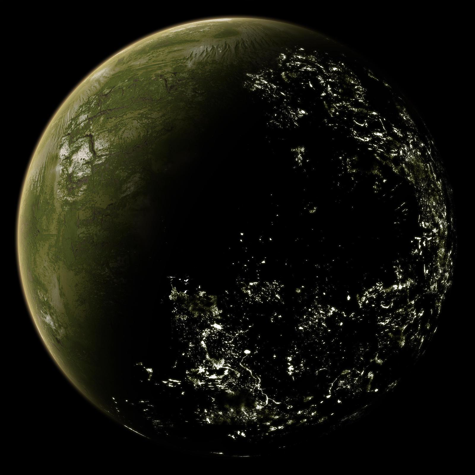 New Inhabited Planet Inhabited Planet By Zardi Dqfyis