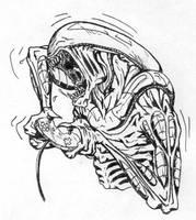 Alien Gamer by GrimmSaluss