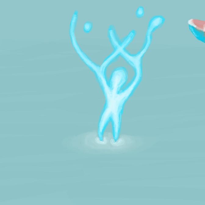 Glow blob creature by EnthrallinglyBadArt
