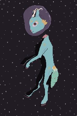 Decapdeer In Space by EnthrallinglyBadArt