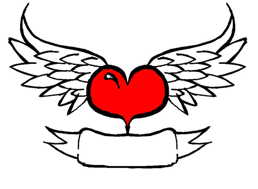 Heart with Wings by TheWannabeTatto on DeviantArt
