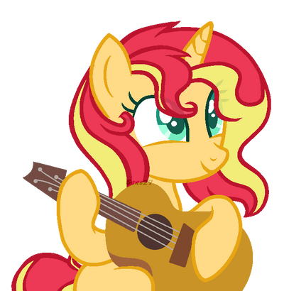 sunset_shimmer_plays_the_guitar_by_alina