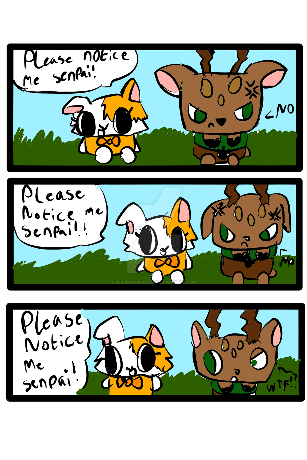 Please Notice Me Senpai Canimals Comic: NOTICE...