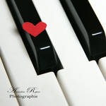 small heart and piano