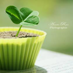 Cupcake au trefle