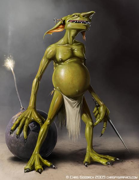 Goblin: Neutral by chrispygraphics