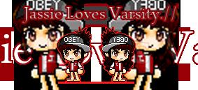 Jassie loves varsity. by kingsando