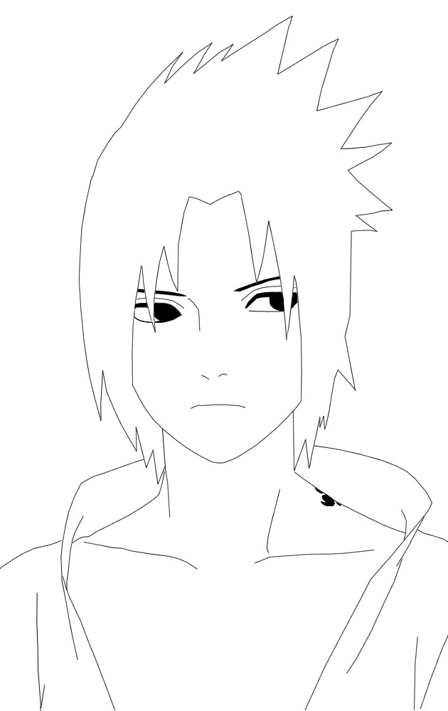Sasuke Lineart : Sasuke lineart by fayemilly on deviantart