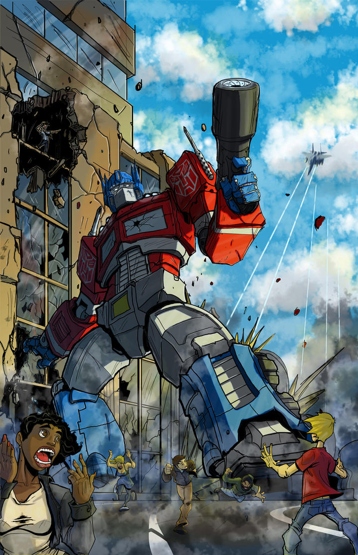 optimus prime's stand by ZipDraw