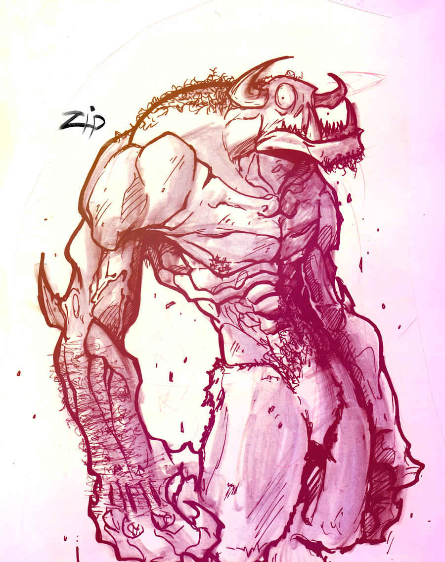 ... sketches mythical creature sketches creepy monster sketches monster