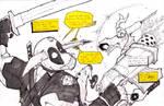 2k13 Commission Deadpool versus Usagi Yojimbo