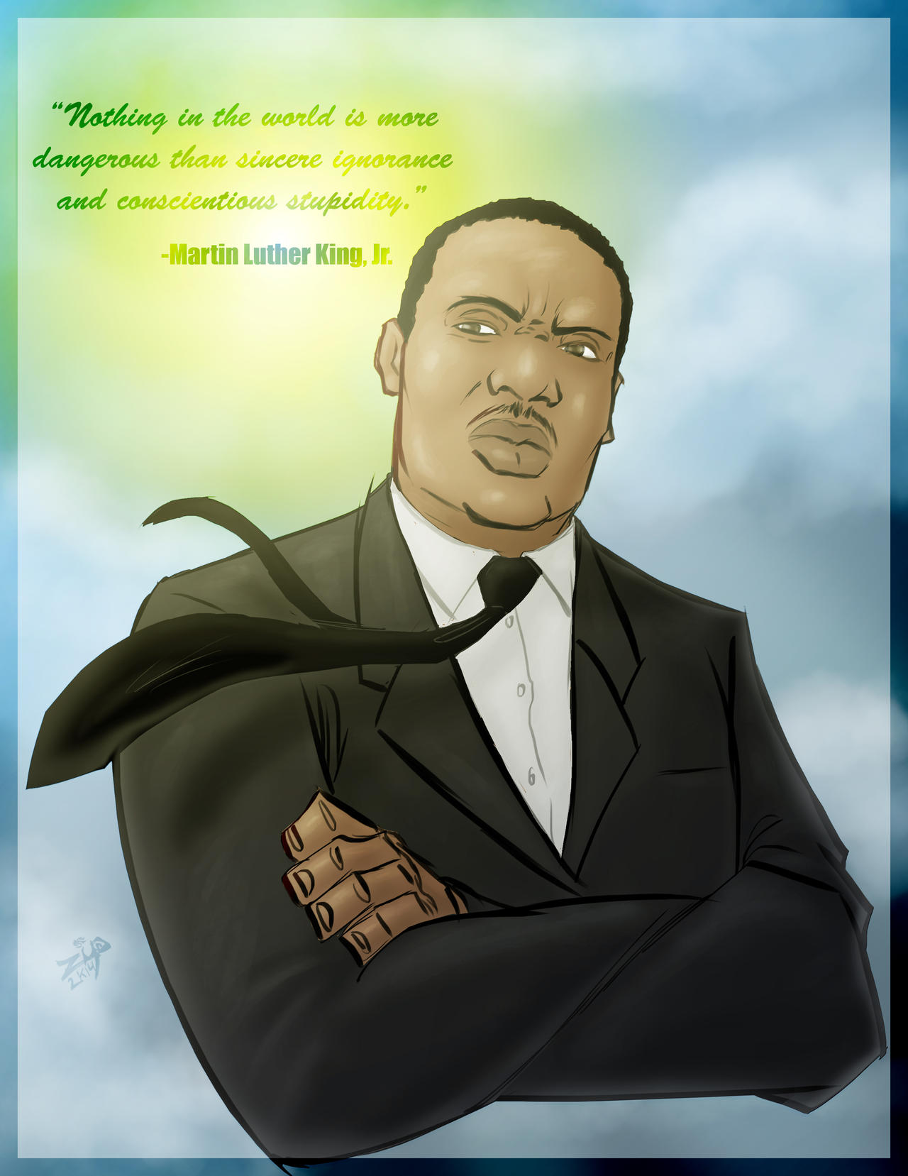 dr. Martin Luther King Jr by ZipDraw