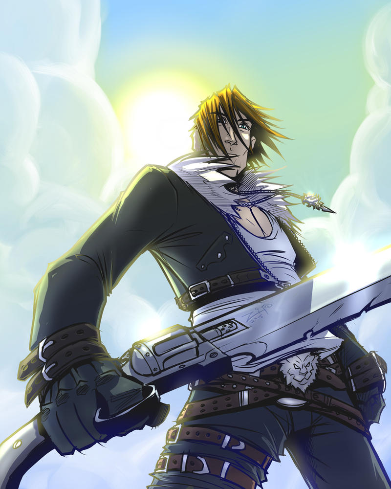 Ff8 Squall 00 by ZipDraw