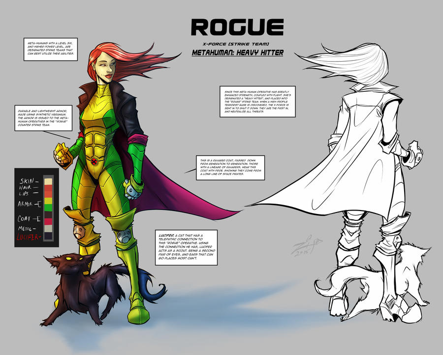 X-FORCE Rogue Team Operative Character Sheet by ZipDraw on