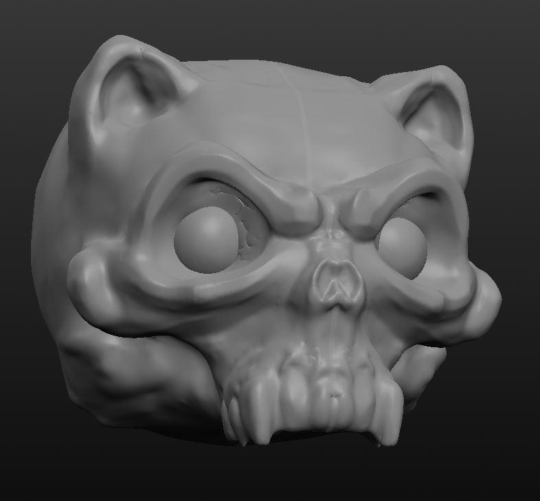 Skullfaced kitty by ZipDraw